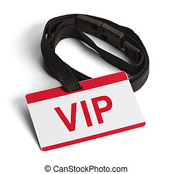 VIP Card - Red and White VIP ID Card Isolated on White...