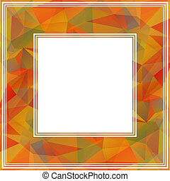 orange border - Abstract border with orange and gray...