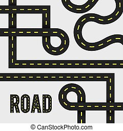 Road design - Road design over white background, vector...