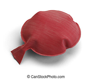 Whoopee Cushion - Red Rubber Noise Maker Isolated on a White...