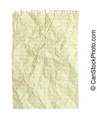 起皺紋, 線, 紙,