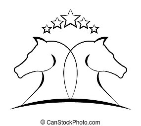 Horse design - Horse design over white background, vector...