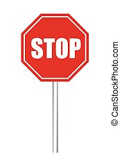 Stop Signboard Vector Design - Stop Signboard Isolated on...