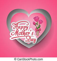Mothers day card design - Happy mothers day card design,...