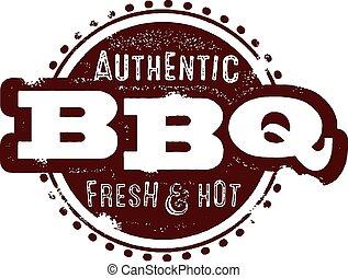 Vintage BBQ Stamp