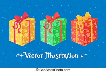 Collection of gift boxes. - Colorful vector collection of...