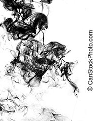 Abstract fume on the white background