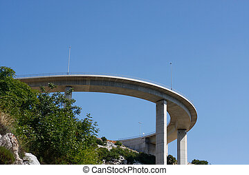 Motorway flyover near Krk island in Croatia