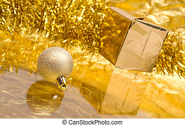 cristmas gift boxes with gold ribbon