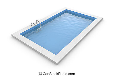 Pool - Square pool. Isolated on white