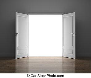 Door to sky. Success concept