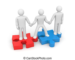 Partnership. Helping hand - Partnership concept. Isolated on...