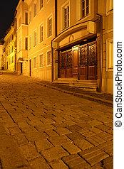 bratislava - old streets of bratislava in the night