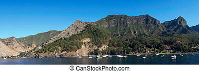 Juan Fernandez Islands - Cumberland Bay on Robinson Crusoe...