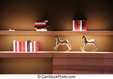 book shelf - books on a shelf in the living room
