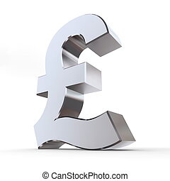 Shiny Pound Symbol - shiny pound symbol in a chrome and...
