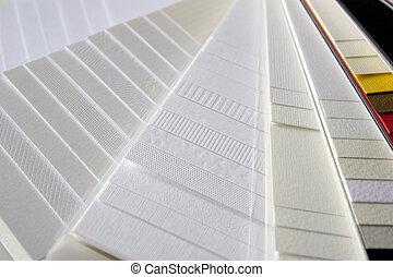 papel, Amostras, diferente, cores, texturas
