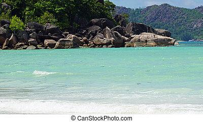 tropical paradise - exotic paradise island on seychelles