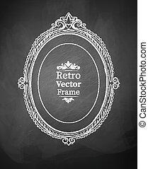 Vintage baroque frame.