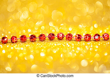 Decorative gold background with sparkling