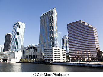 Tampa Downtown - Modern Tampa skyscrapers by Hillsborough...