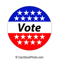 A vote button, sign for 2016