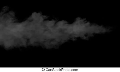 Light Jets of Steam - Swirling flow of steam or smoke on...