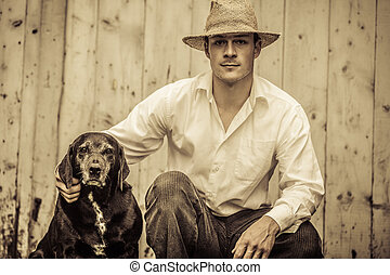 The Farmer and his Best Friend the Dog