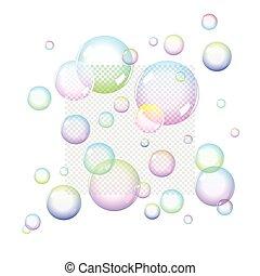 Color Soap bubbles