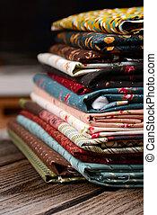 madeira, pano, tecidos, Montão, tabela