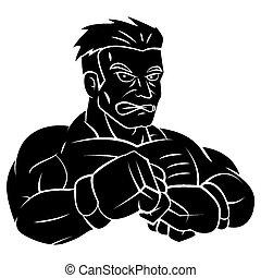 fighter tattoo