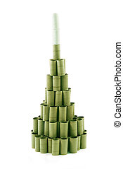 Christmas Tree made of paper rolls - Christmas Tree made...