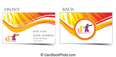 business card set, f