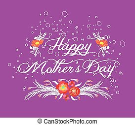 happy mother day with flower