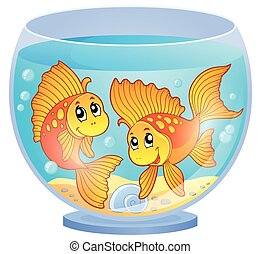 Aquarium theme image 3 - eps10 vector illustration.