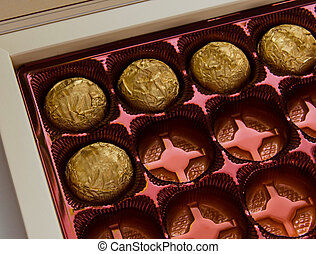 Sweets - box of the very tasty chocolate sweets