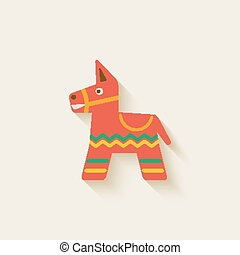 Mexican party pinata - vector illustration. eps 10