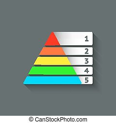 Maslow colored pyramid symbol - vector illustration. eps 10