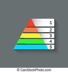 Maslow, colorato, piramide, Simbolo,