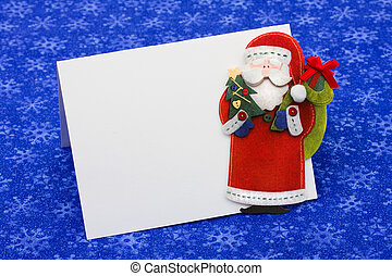 Christmas Letter - A blank envelope with a Santa Claus on a...