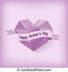 Happy Mother day with purple