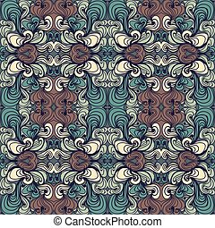 Beautiful Curly Abstract Seamless Pattern