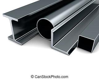 rotolato, metallo, produzione,