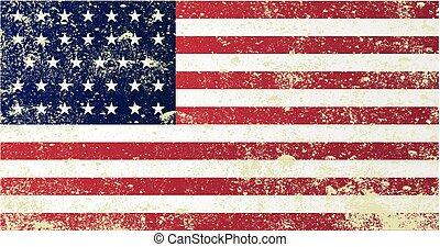 Union Civil War Flag - A grunge style Union civil war stars...