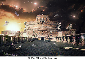 Rome Apocalipse - Apocaliptical scene to the Rome cityscape...