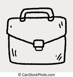 doodle briefcase
