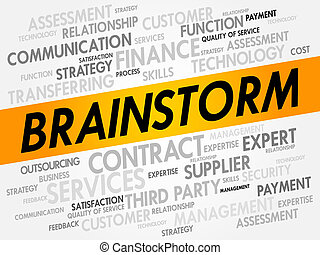 BRAINSTORM word cloud, business concept