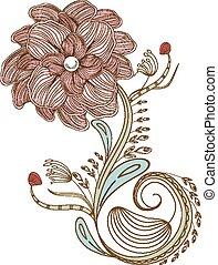 Flower vintage doodle florals