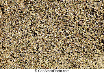 close-up of a sandstone soil