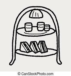 afternoon tea doodle